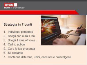 slide di speech SMAU Milano
