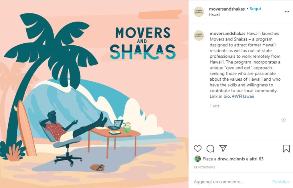 Programma Moversandshakas delle Hawaii
